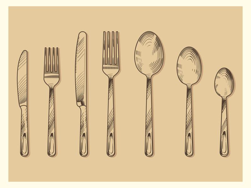 utensilios para comer